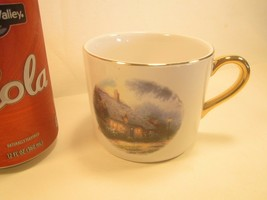 Coffee Cup Glass Mug THOMAS KINKADE Moonlight Cottage [Y3A5] - $5.76