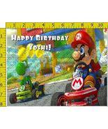 Mario Kart 1005 Birthday Party Edible Frosting Image 1/2 sheet Cake Topper - $18.99