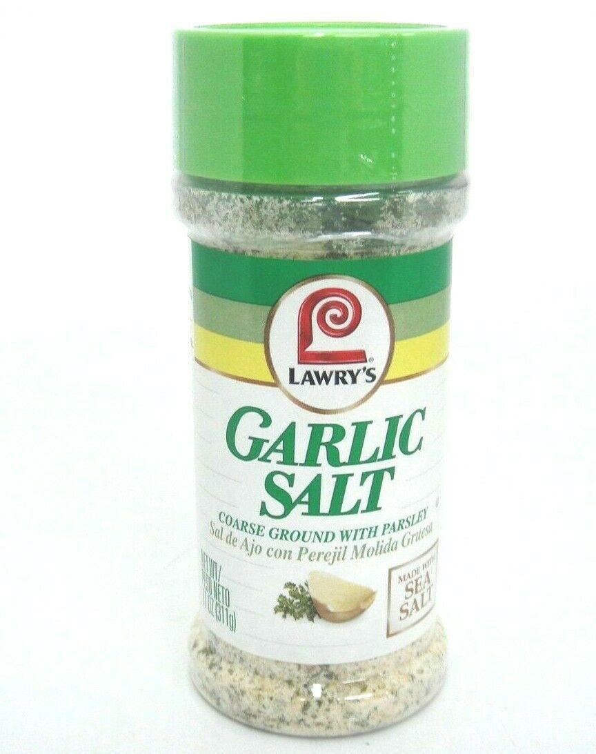 Primary image for Lawrys Garlic Salt Coarse Ground With Parsley 11 oz w New Sealed Exp June 2022