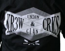 KR3W x Crooks & Castles Colab Union Clan Black or White T-Shirt NWT image 3