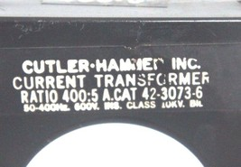 CUTLER-HAMMER 42-3073-6 RATIO 400:5 TRANSFORMER image 2