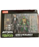 DC Batman vs Teenage Mutant Ninja Turtles TMNT Alfred & Michaelangelo 2-... - $29.99