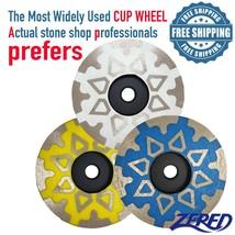 "ZERED 4"" Diamond Grinding Cup Wheel for Granite Quartz Concrete - $49.99"