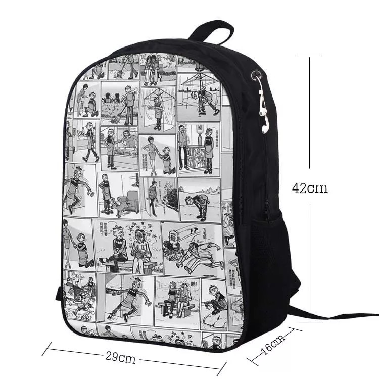 """The Grinch Backpack How the Grinch Stole Christmas School Bag Rucksack 17/"""""""