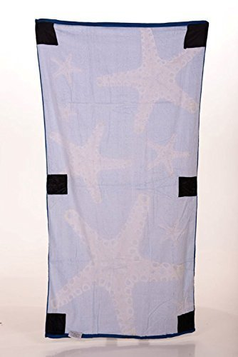 Sand Secured Outdoor Towel Set: One1 Starfish Design & One1 Palm Tree Design, 2  image 7
