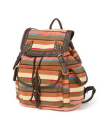 Fresno Yarn Dye Stripes Backpack Shoulder School Book Bag - NWT - $25.19
