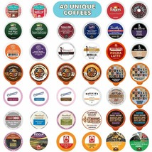 Coffee Pods Variety Pack Sampler Assorted Single Serve 40 Kcups - $33.07