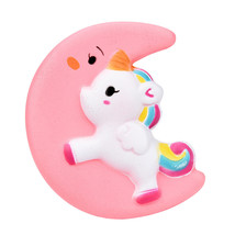 Squishy Toy Cute Moon Unicorn Scented Cream Slow Rising Squeeze Decompre... - $7.75