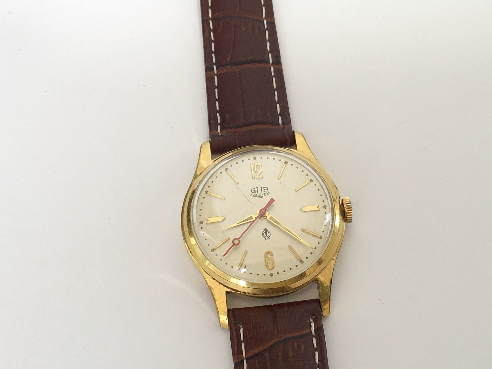 Vintage Rare GLASHUTTE GUB Q1 Chronometre cal. 60.3 Mechanical Germany Watch image 4