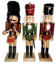 """Santa's Workshop 70716 Natural Wood Nutcracker, Set of 3, 14"""" - $93.86"""