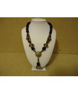 Designer Fashion Necklace 17 1/2in Beaded/Strand Dangle Female Adult Bla... - $17.84