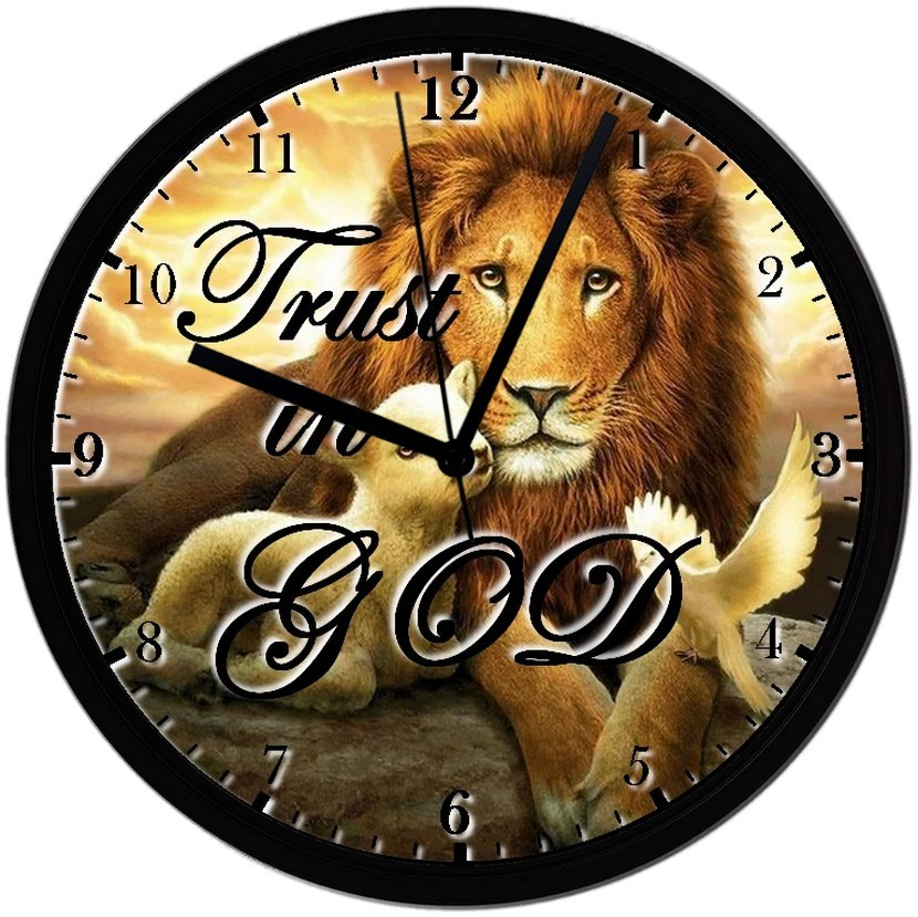 "Primary image for Religious No.4, EXCLUSIVE! 8"" Homemade Wall Clock w/ Battery, FREE SHIPPING"