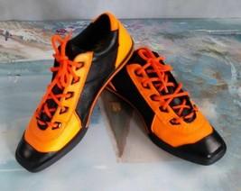 Diesel CollectibleRare Butterfly Sista Women Orange Blk Leather Sneakers 8M $175 - $88.88