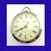 Retro 17 Jewel Swiss  Vintage Decorative Gold Plate Fob Watch 1968 - $29.39
