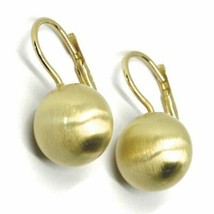 Aquaforte Earrings in Silver 925 with Disk 12 MM Gold Made in Italy image 1