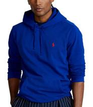 $110- Polo Ralph Lauren RL Fleece Hoodie Blue,M - $95.03