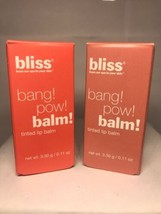 Bliss Bang! Pow! Balm! Tinted Lip Balm- U PICK COLOR - $11.99