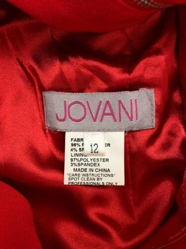 Jovani Womens Size 12 Red Formal Prom Dress Back Criss-Cross 2 Side Slits B90-08