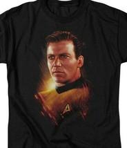 Captain James T. Kirk T-shirt Star Trek Retro TV Sci-Fi graphic tee CBS1580 image 2
