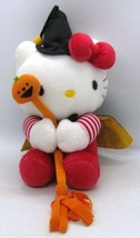 "Hello Kitty Witch on Pumpkin Broom Cape Sanrio 9.5"" all Plush Stuffed To... - $28.50"