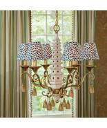 "Vintage Style Asian Porcelain Pagoda 6 Light Chandelier,23 x 24""H - $985.05"