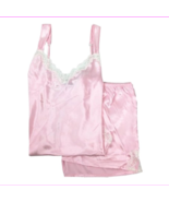 Morgan Taylor Silk Calm Pink Lace Boxer Sleep Set in Medium - $14.30