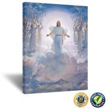 Jesus Christ Second Coming Religious Art Print on Canvas Spiritual Inspi... - $79.95