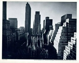 Gothic Spires St Patrick's Cathedral & Skyscrapers Present Sharp Contras... - $49.63