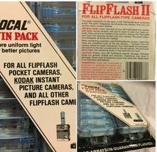 Vintage GE Flip Flash II Flipflash for Kodak Pocket Cameras Twin Pack SK... - $25.99