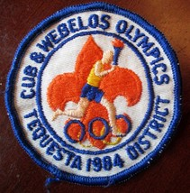 BOY SCOUTS BSA CUB & WEBELO OLYMPICS TEQUESTA DISTRICT 1984 3 INCH PATCH - $2.50