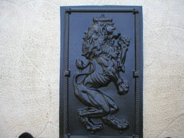 "Giant 19x34x2"" Mold Makes Celtic Scottish Rampant Lion (Left Facing) Wall Plaque image 2"