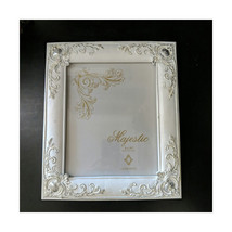 "CONCEPTS* 11"" x 12.75"" MAJESTIC PICTURE FRAME Shabby Chic WHITE+SILVER F... - $379,29 MXN"