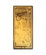 10 New Hampshire Goldback Aurum Gold Note 1/100 oz 24KT  - $45.00