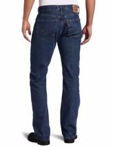 NEW LEVI'S STRAUSS 505 MEN'S ORIGINAL STRAIGHT LEG DARK STONEWASH JEANS 505-4886 image 2