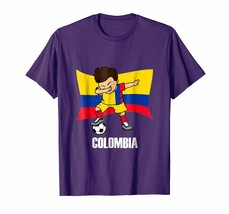 Sport Shirts - Dabbing Soccer Boy Colombia Jersey Tee - Colombia Football Men - $19.95+