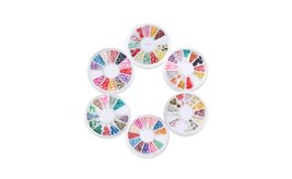 8 or 12 Wheels Combo Set Nail Art Polymer Slices Fimo Decal Accessories image 3