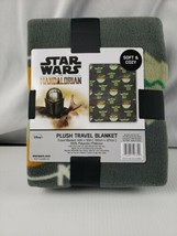 "Star Wars The Mandalorian Plush Travel Blanket "" Gray "" 40"" x 50""  New - $18.69"
