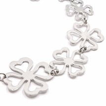 Bracelet Silver 925,Four-Leaf Clover Good Luck Charm,by Maria Ielpo ,Made in image 2