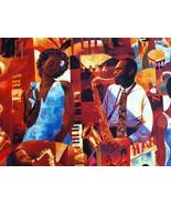 1/2 yd music/jazz singer musicians keyboards guitar bass quilt fabric-fr... - $11.99