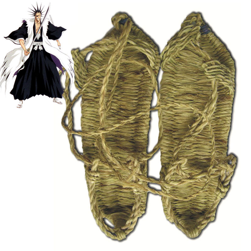 Bleach Halloween Cosplay Straw-Sandals Shoes Super Soft Seaweed