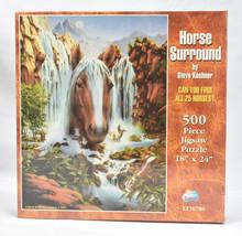 Sunsout Horse Surround 500 Piece Jigsaw Puzzle  Kushner New Sealed LT36780 - $44.50
