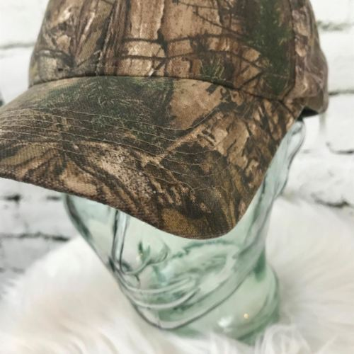 Realtree Mens One Sz Hat Brown Camouflage Adjustable Baseball Cap Flaw