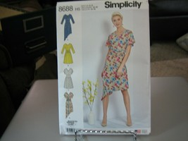 Simplicity 8688 Misses Knit Dresses Pattern - Size 6/8/10/12/14 - $7.91