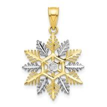 10K Two Tone Gold Snowflake Charm - $54.99
