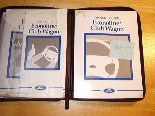 ford econoline van owners manual paperback ford