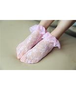 Retro Flower Women Lace Socks Fashion Ladies Socks Black Lace Ruffle Sho... - $6.99