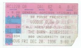 RARE Voodoo Glow Skulls 12/20/96 Riverside CA The Barn Concert Ticket Stub! - $2.96