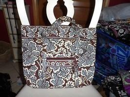 Vera Bradley Villager large zipper tote in Slate Blooms - $43.00