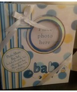 Baby Boy Blue Keepsake Photo Album Box Set NIB - $20.56