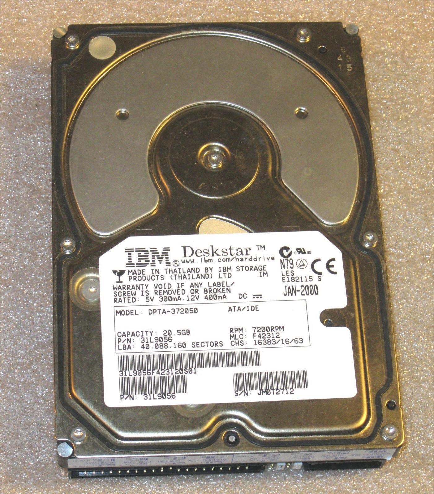 IBM Deskstar DPTA-372050 HDD Hard Disk Drive and 50 similar